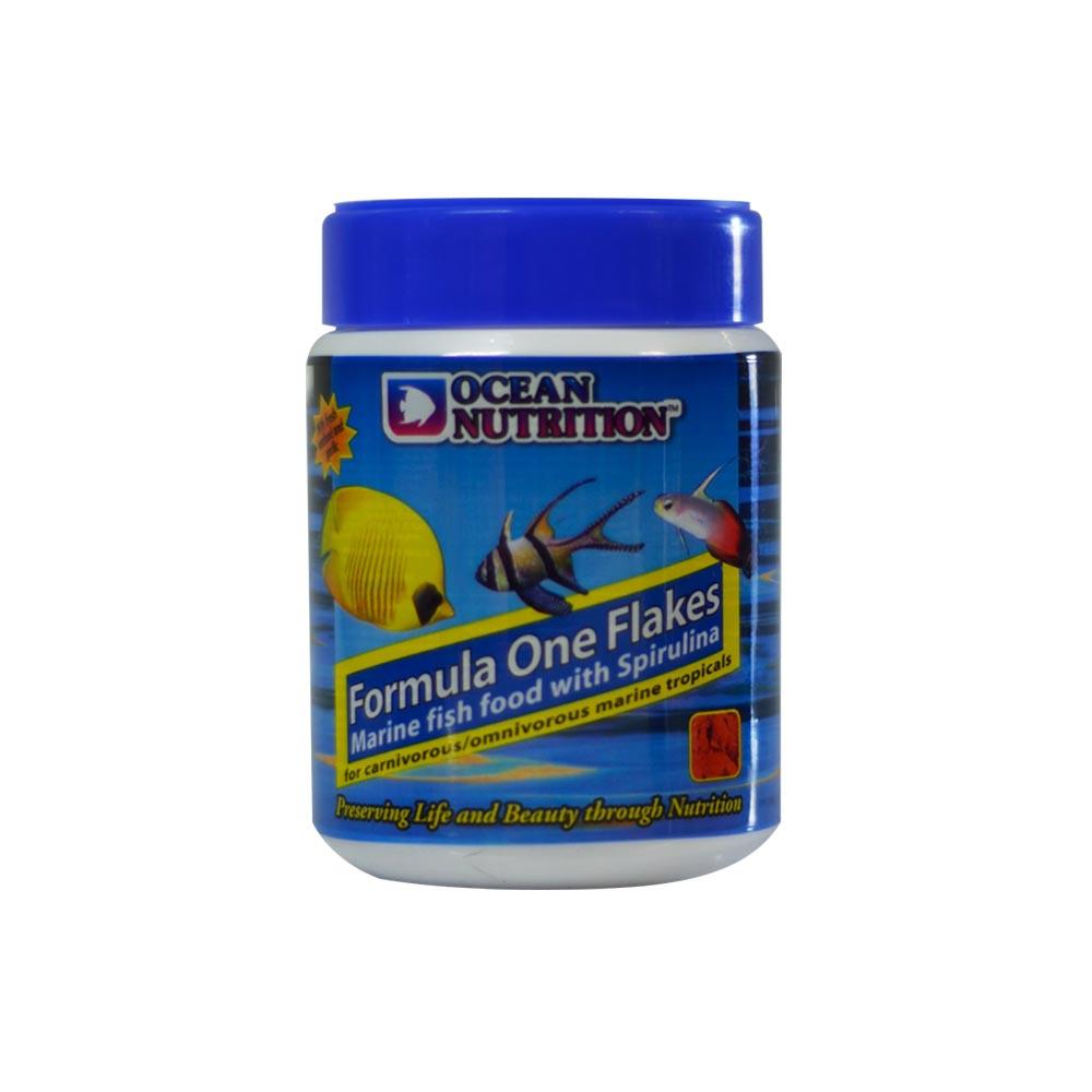 Formula one flakes marine fish food with spirulina for Spirulina fish food